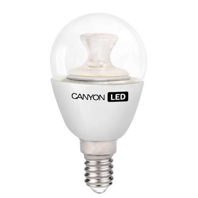 Светодиодная лампа CANYON PE14CL6W230VWВ виде шарика<br>В интернет-магазине «Светодом» можно купить не только люстры и светильники, но и лампочки. В нашем каталоге представлены светодиодные, галогенные, энергосберегающие модели и лампы накаливания. В ассортименте имеются изделия разной мощности, поэтому у нас Вы сможете приобрести все необходимое для освещения.   Лампа Canyon PE14CL6W230VW обеспечит отличное качество освещения. При покупке ознакомьтесь с параметрами в разделе «Характеристики», чтобы не ошибиться в выборе. Там же указано, для каких осветительных приборов Вы можете использовать лампу Canyon PE14CL6W230VWCanyon PE14CL6W230VW.   Для оформления покупки воспользуйтесь «Корзиной». При наличии вопросов Вы можете позвонить нашим менеджерам по одному из контактных номеров. Мы доставляем заказы в Москву, Екатеринбург и другие города России.<br><br>Рекомендуемые колбы ламп: P45<br>Цветовая t, К: 2700<br>Тип лампы: LED - светодиодная<br>Тип цоколя: E14<br>MAX мощность ламп, Вт: 6<br>Диаметр, мм мм: 45<br>Длина, мм: 83,5<br>Общая мощность, Вт: эквивалент лампы накаливания 40 Ватт