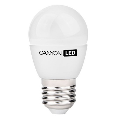 Светодиодная лампа CANYON PE27FR3.3W230VWВ виде шарика<br>В интернет-магазине «Светодом» можно купить не только люстры и светильники, но и лампочки. В нашем каталоге представлены светодиодные, галогенные, энергосберегающие модели и лампы накаливания. В ассортименте имеются изделия разной мощности, поэтому у нас Вы сможете приобрести все необходимое для освещения.   Лампа Canyon PE27FR3.3W230VW обеспечит отличное качество освещения. При покупке ознакомьтесь с параметрами в разделе «Характеристики», чтобы не ошибиться в выборе. Там же указано, для каких осветительных приборов Вы можете использовать лампу Canyon PE27FR3.3W230VWCanyon PE27FR3.3W230VW.   Для оформления покупки воспользуйтесь «Корзиной». При наличии вопросов Вы можете позвонить нашим менеджерам по одному из контактных номеров. Мы доставляем заказы в Москву, Екатеринбург и другие города России.<br><br>Рекомендуемые колбы ламп: P45<br>Цветовая t, К: 4000<br>Тип лампы: LED - светодиодная<br>Тип цоколя: E27<br>Диаметр, мм мм: 45<br>Длина, мм: 82<br>MAX мощность ламп, Вт: 3,3<br>Общая мощность, Вт: эквивалент лампы накаливания 25 Ватт
