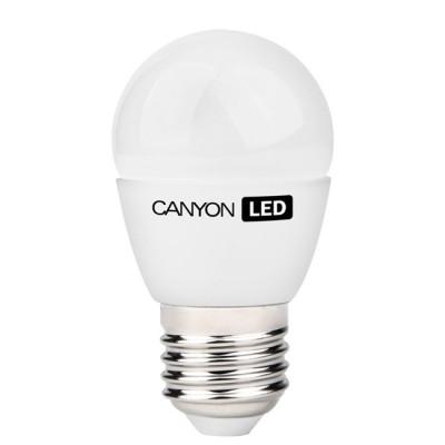 Светодиодная лампа CANYON PE27FR6W230VNВ виде шарика<br>В интернет-магазине «Светодом» можно купить не только люстры и светильники, но и лампочки. В нашем каталоге представлены светодиодные, галогенные, энергосберегающие модели и лампы накаливания. В ассортименте имеются изделия разной мощности, поэтому у нас Вы сможете приобрести все необходимое для освещения.   Лампа Canyon PE27FR6W230VN обеспечит отличное качество освещения. При покупке ознакомьтесь с параметрами в разделе «Характеристики», чтобы не ошибиться в выборе. Там же указано, для каких осветительных приборов Вы можете использовать лампу Canyon PE27FR6W230VNCanyon PE27FR6W230VN.   Для оформления покупки воспользуйтесь «Корзиной». При наличии вопросов Вы можете позвонить нашим менеджерам по одному из контактных номеров. Мы доставляем заказы в Москву, Екатеринбург и другие города России.<br><br>Рекомендуемые колбы ламп: P45<br>Цветовая t, К: 4000<br>Тип лампы: LED - светодиодная<br>Тип цоколя: E27<br>MAX мощность ламп, Вт: 6<br>Диаметр, мм мм: 45<br>Длина, мм: 82<br>Общая мощность, Вт: эквивалент лампы накаливания 41 Ватт