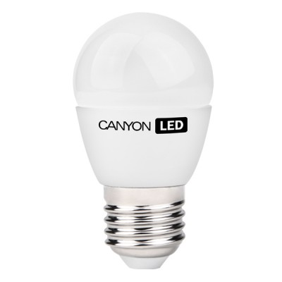 Светодиодная лампа CANYON PE27FR6W230VWСтандартный вид<br>В интернет-магазине «Светодом» можно купить не только люстры и светильники, но и лампочки. В нашем каталоге представлены светодиодные, галогенные, энергосберегающие модели и лампы накаливания. В ассортименте имеются изделия разной мощности, поэтому у нас Вы сможете приобрести все необходимое для освещения.   Лампа Canyon PE27FR6W230VW обеспечит отличное качество освещения. При покупке ознакомьтесь с параметрами в разделе «Характеристики», чтобы не ошибиться в выборе. Там же указано, для каких осветительных приборов Вы можете использовать лампу Canyon PE27FR6W230VWCanyon PE27FR6W230VW.   Для оформления покупки воспользуйтесь «Корзиной». При наличии вопросов Вы можете позвонить нашим менеджерам по одному из контактных номеров. Мы доставляем заказы в Москву, Екатеринбург и другие города России.<br><br>Рекомендуемые колбы ламп: P45<br>Цветовая t, К: 2700<br>Тип лампы: LED - светодиодная<br>Тип цоколя: E27<br>MAX мощность ламп, Вт: 6<br>Диаметр, мм мм: 45<br>Длина, мм: 82<br>Общая мощность, Вт: эквивалент лампы накаливания 40 Ватт