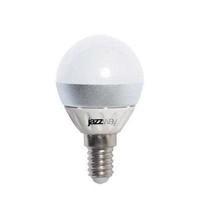 Лампа Jazzway PLED-Combi-G45 5W 5000K E27В виде шарика<br>В интернет-магазине «Светодом» можно купить не только люстры и светильники, но и лампочки. В нашем каталоге представлены светодиодные, галогенные, энергосберегающие модели и лампы накаливания. В ассортименте имеются изделия разной мощности, поэтому у нас Вы сможете приобрести все необходимое для освещения.   Лампа Jazzway PLED-Combi-G45 5W 5000K E27  обеспечит отличное качество освещения. При покупке ознакомьтесь с параметрами в разделе «Характеристики», чтобы не ошибиться в выборе. Там же указано, для каких осветительных приборов Вы можете использовать лампу Jazzway PLED-Combi-G45 5W 5000K E27 Jazzway PLED-Combi-G45 5W 5000K E27 .   Для оформления покупки воспользуйтесь «Корзиной». При наличии вопросов Вы можете позвонить нашим менеджерам по одному из контактных номеров. Мы доставляем заказы в Москву, Екатеринбург и другие города России.<br><br>Цветовая t, К: CW - дневной белый 6000 К<br>Тип лампы: LED - светодиодная<br>Тип цоколя: E27<br>MAX мощность ламп, Вт: 5<br>Диаметр, мм мм: 45<br>Высота, мм: 82