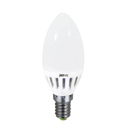 Лампа Jazzway PLED-ECO-C37/PW 3.5w 2700К Е14В виде свечи<br><br><br>Тип товара: лампа светодиодная LED<br>Цветовая t, К: WW - теплый белый 2700-3000 К<br>Тип цоколя: E14<br>MAX мощность ламп, Вт: 3,5<br>Диаметр, мм мм: 37<br>Высота, мм: 98