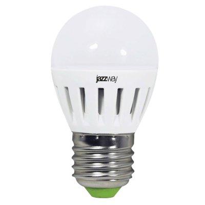 Лампа Jazzway PLED-ECO-G45/PW 3.5w Е27 4000КВ виде шарика<br>В интернет-магазине «Светодом» можно купить не только люстры и светильники, но и лампочки. В нашем каталоге представлены светодиодные, галогенные, энергосберегающие модели и лампы накаливания. В ассортименте имеются изделия разной мощности, поэтому у нас Вы сможете приобрести все необходимое для освещения.   Лампа Jazzway PLED-ECO-G45/PW 3.5w Е27 4000К  обеспечит отличное качество освещения. При покупке ознакомьтесь с параметрами в разделе «Характеристики», чтобы не ошибиться в выборе. Там же указано, для каких осветительных приборов Вы можете использовать лампу Jazzway PLED-ECO-G45/PW 3.5w Е27 4000К Jazzway PLED-ECO-G45/PW 3.5w Е27 4000К .   Для оформления покупки воспользуйтесь «Корзиной». При наличии вопросов Вы можете позвонить нашим менеджерам по одному из контактных номеров. Мы доставляем заказы в Москву, Екатеринбург и другие города России.<br><br>Цветовая t, К: 4000<br>Тип цоколя: E27<br>MAX мощность ламп, Вт: 3,5<br>Диаметр, мм мм: 45<br>Высота, мм: 76