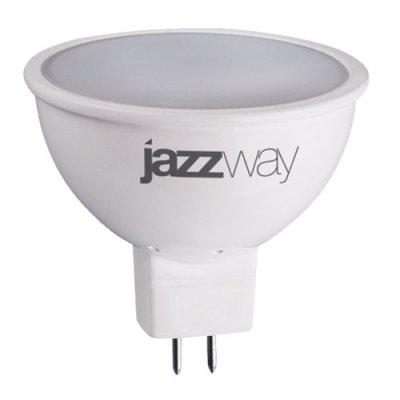 Лампа светодиодная Jazzway JCDR 5W 3000K GU5.3Зеркальные MR16 - 5.3<br><br><br>Цветовая t, К: WW - теплый белый 2700-3000 К<br>Тип лампы: LED - светодиодная<br>Тип цоколя: GU5.3 (MR16)<br>MAX мощность ламп, Вт: 5<br>Диаметр, мм мм: 50<br>Высота, мм: 50