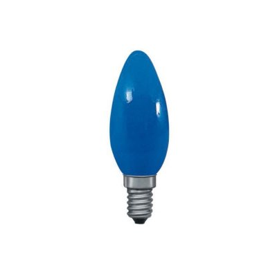 Лампа свеча синяя Paulmann 40224Лампа свеча<br><br><br>Тип товара: лампа освещения<br>Тип лампы: накаливания<br>Тип цоколя: E14<br>MAX мощность ламп, Вт: 25<br>Высота, мм: 98<br>Цвет арматуры: Blue