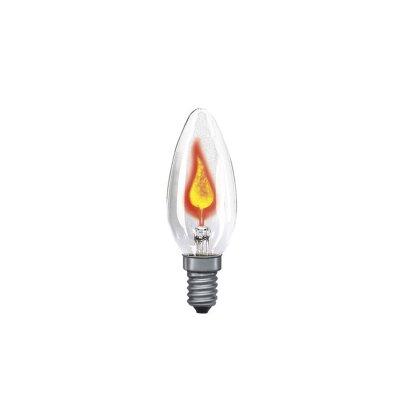 Лампа мерцающая свеча Paulmann 53000Лампы мерцающие<br><br><br>Тип лампы: накаливания или энергосбережения<br>Тип цоколя: E14<br>MAX мощность ламп, Вт: 3<br>Высота, мм: 97<br>Цвет арматуры: Clear