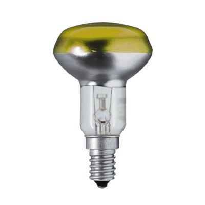 Лампа зеркальная R63 Philips 40W E27 желтаяЗеркальные<br><br><br>Тип товара: лампа освещения<br>Тип лампы: накаливания<br>Тип цоколя: E27<br>MAX мощность ламп, Вт: 40<br>Диаметр, мм мм: 63<br>Высота, мм: 104<br>Оттенок (цвет): Желтый
