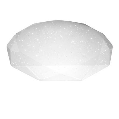 Светильник диодный Estares Almaz 25W R-345-SHINYКруглые<br>Настенно-потолочные светильники – это универсальные осветительные варианты, которые подходят для вертикального и горизонтального монтажа. В интернет-магазине «Светодом» Вы можете приобрести подобные модели по выгодной стоимости. В нашем каталоге представлены как бюджетные варианты, так и эксклюзивные изделия от производителей, которые уже давно заслужили доверие дизайнеров и простых покупателей. <br>Настенно-потолочный светильник Estares R-345-SHINY станет прекрасным дополнением к основному освещению. Благодаря качественному исполнению и применению современных технологий при производстве эта модель будет радовать Вас своим привлекательным внешним видом долгое время. <br>Приобрести настенно-потолочный светильник Estares R-345-SHINY можно, находясь в любой точке России.<br><br>S освещ. до, м2: 10<br>Тип лампы: LED<br>Диаметр, мм мм: 345<br>Высота, мм: 67<br>MAX мощность ламп, Вт: 25