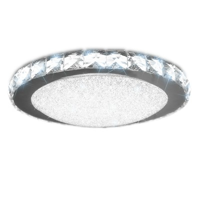 Светильник светодиодный Siyanie 60W R-515-CRYSTAL EstaresПотолочные<br><br><br>Тип лампы: LED<br>Тип цоколя: LED<br>Цвет арматуры: серебристый<br>Диаметр, мм мм: 515<br>Высота, мм: 74<br>MAX мощность ламп, Вт: 60