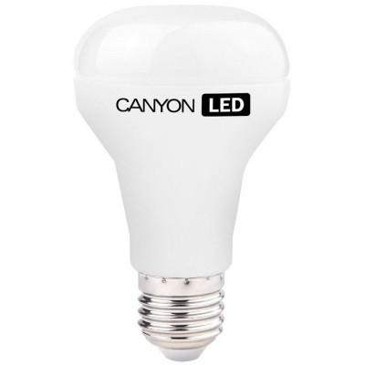 Светодиодная лампа CANYON R63E27FR10W230VWЗеркальные E27, E14<br>В интернет-магазине «Светодом» можно купить не только люстры и светильники, но и лампочки. В нашем каталоге представлены светодиодные, галогенные, энергосберегающие модели и лампы накаливания. В ассортименте имеются изделия разной мощности, поэтому у нас Вы сможете приобрести все необходимое для освещения.   Лампа Canyon R63E27FR10W230VW обеспечит отличное качество освещения. При покупке ознакомьтесь с параметрами в разделе «Характеристики», чтобы не ошибиться в выборе. Там же указано, для каких осветительных приборов Вы можете использовать лампу Canyon R63E27FR10W230VWCanyon R63E27FR10W230VW.   Для оформления покупки воспользуйтесь «Корзиной». При наличии вопросов Вы можете позвонить нашим менеджерам по одному из контактных номеров. Мы доставляем заказы в Москву, Екатеринбург и другие города России.<br><br>Рекомендуемые колбы ламп: R63<br>Цветовая t, К: 2700<br>Тип лампы: LED - светодиодная<br>Тип цоколя: E27<br>MAX мощность ламп, Вт: 10<br>Диаметр, мм мм: 63<br>Длина, мм: 107<br>Общая мощность, Вт: эквивалент лампы накаливания 60 Ватт