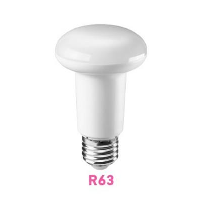 Лампа светодиодная ОНЛАЙТ 71 654 ОLL-R63-8-230-4K-E27Зеркальные E27, E14<br>Светодиодные лампы «Онлайт» – светодиодные энергосберегающие лампы общего и декоративного освещения.   Основные преимущества  • Высокоэффективные планарные светодиоды Epistar   • Алюминий и композитные материалы в составе радиаторов обеспечивают эффективный теплоотвод   • Высокоэффективный драйвер, построенный на интегральной микросхеме, обеспечивает стабильную работу при широком диапазоне входных напряжений без пульсаций светового потока   • Срок службы 30 000 часов.<br><br>Цветовая t, К: CW - холодный белый 4000 К<br>Тип лампы: LED - светодиодная<br>Тип цоколя: E27<br>Диаметр, мм мм: 63<br>Высота, мм: 103<br>MAX мощность ламп, Вт: 8