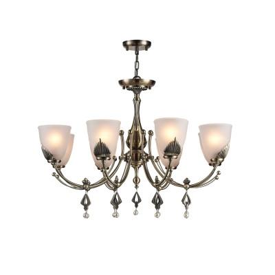 Люстра Maytoni RC146-PL-08-R BasilПодвесные<br><br><br>S освещ. до, м2: 24<br>Тип лампы: накаливания / энергосбережения / LED-светодиодная<br>Тип цоколя: E14<br>Цвет арматуры: античный бронзовый<br>Количество ламп: 8<br>Глубина, мм: 850<br>Длина цепи/провода, мм: 1470<br>Оттенок (цвет): античный бронзовый<br>MAX мощность ламп, Вт: 60