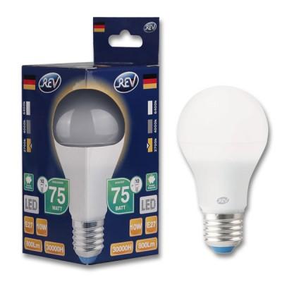 Лампа светодиодная REV 32264 1 LED A60 Е27 7W 600Лм, 2700K, теплый светСтандартный вид<br>В интернет-магазине «Светодом» можно купить не только люстры и светильники, но и лампочки. В нашем каталоге представлены светодиодные, галогенные, энергосберегающие модели и лампы накаливания. В ассортименте имеются изделия разной мощности, поэтому у нас Вы сможете приобрести все необходимое для освещения.   Лампа REV 32264 1 LED A60 Е27 7W 600Лм, 2700K, теплый свет обеспечит отличное качество освещения. При покупке ознакомьтесь с параметрами в разделе «Характеристики», чтобы не ошибиться в выборе. Там же указано, для каких осветительных приборов Вы можете использовать лампу REV 32264 1 LED A60 Е27 7W 600Лм, 2700K, теплый светREV 32264 1 LED A60 Е27 7W 600Лм, 2700K, теплый свет.   Для оформления покупки воспользуйтесь «Корзиной». При наличии вопросов Вы можете позвонить нашим менеджерам по одному из контактных номеров. Мы доставляем заказы в Москву, Екатеринбург и другие города России.<br><br>Цветовая t, К: WW - теплый белый 2700-3000 К<br>Тип лампы: LED - светодиодная<br>Тип цоколя: E27<br>MAX мощность ламп, Вт: 7