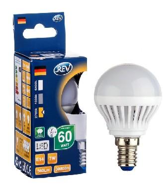 Лампа светодиодная REV 32340 2 LED G45 Е14 7W 600Лм, 2700K, теплый светВ виде шарика<br>В интернет-магазине «Светодом» можно купить не только люстры и светильники, но и лампочки. В нашем каталоге представлены светодиодные, галогенные, энергосберегающие модели и лампы накаливания. В ассортименте имеются изделия разной мощности, поэтому у нас Вы сможете приобрести все необходимое для освещения.   Лампа REV 32340 2 LED G45 Е14 7W 600Лм, 2700K, теплый свет обеспечит отличное качество освещения. При покупке ознакомьтесь с параметрами в разделе «Характеристики», чтобы не ошибиться в выборе. Там же указано, для каких осветительных приборов Вы можете использовать лампу REV 32340 2 LED G45 Е14 7W 600Лм, 2700K, теплый светREV 32340 2 LED G45 Е14 7W 600Лм, 2700K, теплый свет.   Для оформления покупки воспользуйтесь «Корзиной». При наличии вопросов Вы можете позвонить нашим менеджерам по одному из контактных номеров. Мы доставляем заказы в Москву, Екатеринбург и другие города России.<br><br>Цветовая t, К: WW - теплый белый 2700-3000 К<br>Тип лампы: LED - светодиодная<br>Тип цоколя: E14<br>MAX мощность ламп, Вт: 7