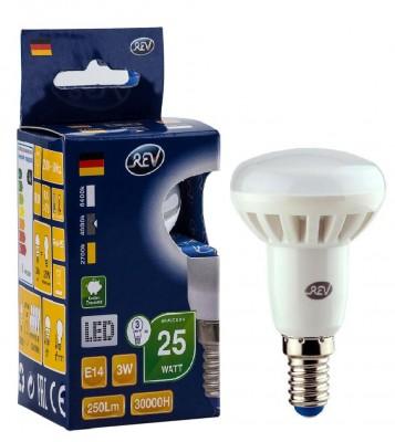 Лампа светодиодная REV 32362 4 LED R39 Е14 3W 250Лм, 4000K, холодный светЗеркальные E27, E14<br>В интернет-магазине «Светодом» можно купить не только люстры и светильники, но и лампочки. В нашем каталоге представлены светодиодные, галогенные, энергосберегающие модели и лампы накаливания. В ассортименте имеются изделия разной мощности, поэтому у нас Вы сможете приобрести все необходимое для освещения.   Лампа REV 32362 4 LED R39 Е14 3W 250Лм, 4000K, холодный свет обеспечит отличное качество освещения. При покупке ознакомьтесь с параметрами в разделе «Характеристики», чтобы не ошибиться в выборе. Там же указано, для каких осветительных приборов Вы можете использовать лампу REV 32362 4 LED R39 Е14 3W 250Лм, 4000K, холодный светREV 32362 4 LED R39 Е14 3W 250Лм, 4000K, холодный свет.   Для оформления покупки воспользуйтесь «Корзиной». При наличии вопросов Вы можете позвонить нашим менеджерам по одному из контактных номеров. Мы доставляем заказы в Москву, Екатеринбург и другие города России.<br><br>Цветовая t, К: CW - холодный белый 4000 К<br>Тип лампы: LED - светодиодная<br>Тип цоколя: E14<br>MAX мощность ламп, Вт: 3