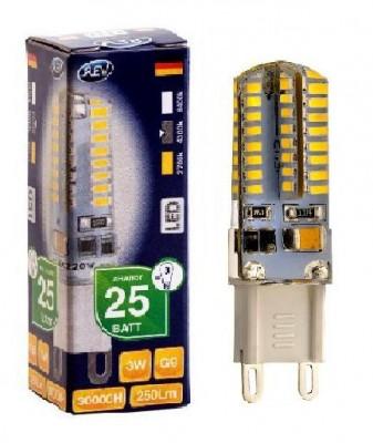 Лампа светодиодная REV 32368 6 LED JCD G9 3W 250Лм, 4000K, холодный светКапсульные G9 220v<br>В интернет-магазине «Светодом» можно купить не только люстры и светильники, но и лампочки. В нашем каталоге представлены светодиодные, галогенные, энергосберегающие модели и лампы накаливания. В ассортименте имеются изделия разной мощности, поэтому у нас Вы сможете приобрести все необходимое для освещения.   Лампа REV 32368 6 LED JCD G9 3W 250Лм, 4000K, холодный свет обеспечит отличное качество освещения. При покупке ознакомьтесь с параметрами в разделе «Характеристики», чтобы не ошибиться в выборе. Там же указано, для каких осветительных приборов Вы можете использовать лампу REV 32368 6 LED JCD G9 3W 250Лм, 4000K, холодный светREV 32368 6 LED JCD G9 3W 250Лм, 4000K, холодный свет.   Для оформления покупки воспользуйтесь «Корзиной». При наличии вопросов Вы можете позвонить нашим менеджерам по одному из контактных номеров. Мы доставляем заказы в Москву, Екатеринбург и другие города России.<br><br>Цветовая t, К: CW - холодный белый 4000 К<br>Тип лампы: LED - светодиодная<br>Тип цоколя: G9<br>MAX мощность ламп, Вт: 3