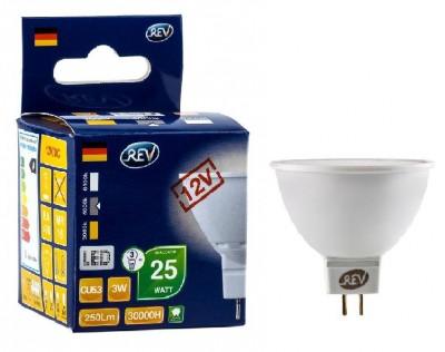 Лампа светодиодная REV 32370 9 LED MR16 GU5.3 3W 250Лм, 4000K, холодный свет, 12VЗеркальные MR16 - 5.3<br>В интернет-магазине «Светодом» можно купить не только люстры и светильники, но и лампочки. В нашем каталоге представлены светодиодные, галогенные, энергосберегающие модели и лампы накаливания. В ассортименте имеются изделия разной мощности, поэтому у нас Вы сможете приобрести все необходимое для освещения.   Лампа REV 32370 9 LED MR16 GU5.3 3W 250Лм, 4000K, холодный свет, 12V обеспечит отличное качество освещения. При покупке ознакомьтесь с параметрами в разделе «Характеристики», чтобы не ошибиться в выборе. Там же указано, для каких осветительных приборов Вы можете использовать лампу REV 32370 9 LED MR16 GU5.3 3W 250Лм, 4000K, холодный свет, 12VREV 32370 9 LED MR16 GU5.3 3W 250Лм, 4000K, холодный свет, 12V.   Для оформления покупки воспользуйтесь «Корзиной». При наличии вопросов Вы можете позвонить нашим менеджерам по одному из контактных номеров. Мы доставляем заказы в Москву, Екатеринбург и другие города России.<br><br>Цветовая t, К: CW - холодный белый 4000 К<br>Тип лампы: LED - светодиодная<br>Тип цоколя: gu5.3<br>MAX мощность ламп, Вт: 3