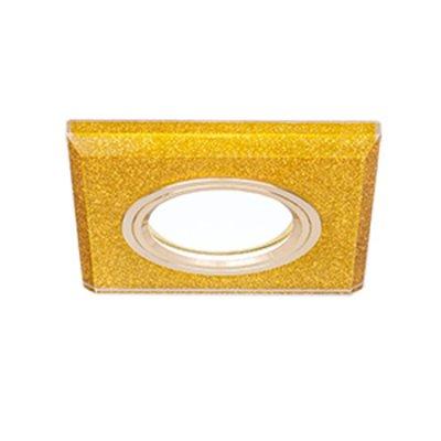 Светильник Gauss Mirror RR011 Квадрат. Кристал золото/Золото, Gu5.3