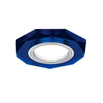 Светильник Gauss Mirror RR015 Восемь гран. Кристал синий/Хром, Gu5.3