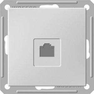 Розетка телефонная Wessen 59 с/у без рамки белый (RSI-152T-1-86)Белый<br><br><br>Тип товара: розетка Int/tel<br>Оттенок (цвет): белый
