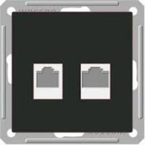 Розетка Wessen 59 с/у без рамки телеф./кат.5Е 2-Я. черный бархат (RSI-251TK5E-6-86)Черный бархат<br><br><br>Оттенок (цвет): черный