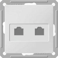 Розетка телефонная Wessen 59 с/у без рамки двухместная белый (RSI-251TT-1-86)Белый<br><br><br>Оттенок (цвет): белый
