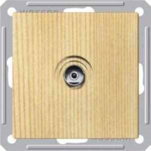 Розетка ТВ Wessen 59 с/у без рамки (оконечная) сосна (RTS-151-7-86)Сосна<br><br><br>Оттенок (цвет): под дерево
