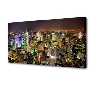 Постер на стену Мегаполис S-4024H ToppostersПостеры на стену<br>Габариты: 50х100х2 см. Состав: Холст, подрамник из МДФ. Упаковка: Защитные уголки и термоусадочная пленка, размер 51х101х2,5 см.<br>