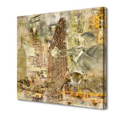 Постер на стену Бродвей S-4076H ToppostersПостеры на стену<br>Габариты: 50х50х2 см. Состав: Холст, подрамник из МДФ. Упаковка: Защитные уголки и термоусадочная пленка, размер 51х51х2,5 см.<br>