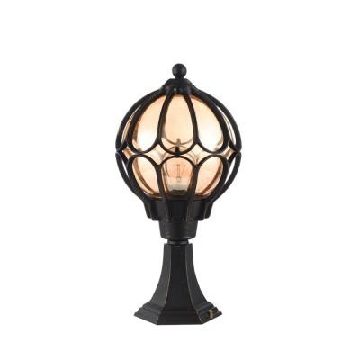 Уличный светильник Maytoni S110-45-01-R Champs ElyseesФонари на столб<br><br><br>Тип лампы: Накаливания / энергосбережения / светодиодная<br>Тип цоколя: E27<br>Цвет арматуры: Янтарный черный<br>Количество ламп: 1<br>Диаметр, мм мм: 225<br>Высота, мм: 455<br>MAX мощность ламп, Вт: 60