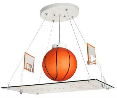 Детский светильник Donolux S110033/1 баскетболДля детской<br>Необычный светильник в виде баскетбольного поля прийдется по душе любому мальчишке и будет замечательно гармонировать с мячами в детской комнате.<br><br>Установка на натяжной потолок: Да<br>S освещ. до, м2: 1<br>Крепление: Планка<br>Тип лампы: накаливания / энергосбережения / светодиодные<br>Тип цоколя: E14<br>Количество ламп: 1<br>Ширина, мм: 360<br>MAX мощность ламп, Вт: 40<br>Длина, мм: 540<br>Высота, мм: 800 - 1200<br>Цвет арматуры: серебристый
