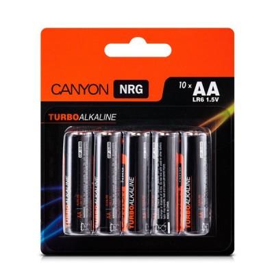 Батарейки Canyon NRG AA (S6ALKAA10) 10штПальчиковые AA<br><br>