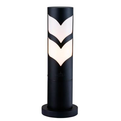 Светильник Maytoni S710-37-31-BОдиночные фонари<br><br><br>Тип товара: Фонарь уличный столб<br>Тип лампы: Накаливания / энергосбережения / светодиодная<br>Тип цоколя: E27<br>Количество ламп: 1<br>MAX мощность ламп, Вт: 11<br>Диаметр, мм мм: 132<br>Высота, мм: 374<br>Цвет арматуры: черный