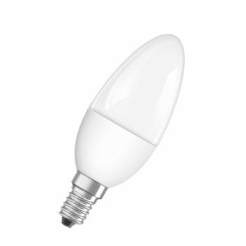 Лампа светодиодная OSRAM свеча SCLB40 6W/827 220-240VFR E14В виде свечи<br>В интернет-магазине «Светодом» можно купить не только люстры и светильники, но и лампочки. В нашем каталоге представлены светодиодные, галогенные, энергосберегающие модели и лампы накаливания. В ассортименте имеются изделия разной мощности, поэтому у нас Вы сможете приобрести все необходимое для освещения.   Лампа OSRAM свеча SCLB40 6W/827 220-240VFR E14 обеспечит отличное качество освещения. При покупке ознакомьтесь с параметрами в разделе «Характеристики», чтобы не ошибиться в выборе. Там же указано, для каких осветительных приборов Вы можете использовать лампу OSRAM свеча SCLB40 6W/827 220-240VFR E14OSRAM свеча SCLB40 6W/827 220-240VFR E14.   Для оформления покупки воспользуйтесь «Корзиной». При наличии вопросов Вы можете позвонить нашим менеджерам по одному из контактных номеров. Мы доставляем заказы в Москву, Екатеринбург и другие города России.<br><br>Тип лампы: LED<br>Тип цоколя: E14<br>MAX мощность ламп, Вт: 6
