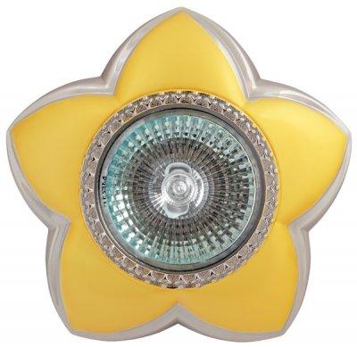 Светильник галогенный SD-106 BQ MR16 цветок 5 лепестков, перл.золото+хромДекоративные<br>Встраиваемые светильники – популярное осветительное оборудование, которое можно использовать в качестве основного источника или в дополнение к люстре. Они позволяют создать нужную атмосферу атмосферу и привнести в интерьер уют и комфорт.   Интернет-магазин «Светодом» предлагает стильный встраиваемый светильник Degran SD-106 BQ MR16 цветок 5 лепестков, перл.золото+хром. Данная модель достаточно универсальна, поэтому подойдет практически под любой интерьер. Перед покупкой не забудьте ознакомиться с техническими параметрами, чтобы узнать тип цоколя, площадь освещения и другие важные характеристики.   Приобрести встраиваемый светильник Degran SD-106 BQ MR16 цветок 5 лепестков, перл.золото+хром в нашем онлайн-магазине Вы можете либо с помощью «Корзины», либо по контактным номерам. Мы развозим заказы по Москве, Екатеринбургу и остальным российским городам.<br><br>S освещ. до, м2: 3<br>Тип лампы: галогенная<br>Тип цоколя: GU5.3 (MR16)<br>Количество ламп: 1<br>MAX мощность ламп, Вт: 50<br>Диаметр, мм мм: 105<br>Диаметр врезного отверстия, мм: 83<br>Цвет арматуры: серебристый