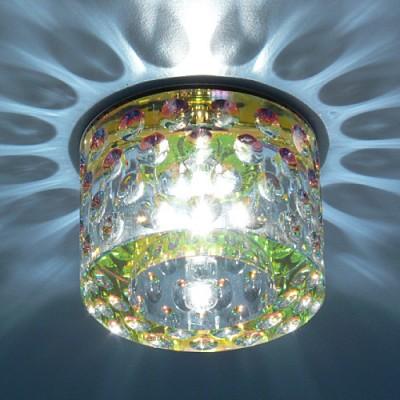 Светильник Electrostandart SD8142 Colorful перламутрКруглые<br><br><br>S освещ. до, м2: 2<br>Тип товара: точечный встраиваемый светильник<br>Тип лампы: галогенная<br>Тип цоколя: G4<br>Количество ламп: 1<br>MAX мощность ламп, Вт: 20<br>Диаметр, мм мм: 80<br>Диаметр врезного отверстия, мм: 50<br>Оттенок (цвет): перламутр<br>Цвет арматуры: серебристый