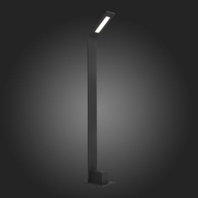Столб уличный St Luce SL094.445.01Одиночные столбы<br>Модели коллекции Ansa дополнят ландшафтный дизайн загородного участка или территории отеля. Основание выполнено из металла и окрашено в чёрный матовый цвет. Источник света LEDмягко освещает пространство через белый акриловый плафон.<br><br>Цветовая t, К: 4000<br>Тип лампы: LED<br>Тип цоколя: LED<br>Ширина, мм: 100<br>MAX мощность ламп, Вт: 4<br>Длина, мм: 157<br>Высота, мм: 800<br>Цвет арматуры: черный