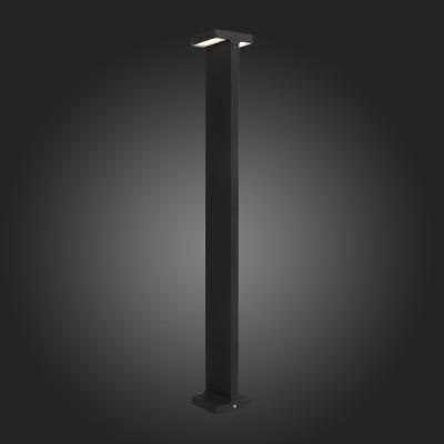 Светильник St Luce SL095.445.02Одиночные столбы<br>Уличные светильники коллекции Distesa займут достойное место во дворе загородного дома, украсив его и наполнив светом. Металлическое основание окрашено в чёрный или серый цвет. Источник LED создаёт ровный рассеянный свет в окружающем пространстве. Модели Distesa добавят степенности и солидности загородному участку, клубу, гостинице или административному зданию.<br><br>Цветовая t, К: 4000<br>Тип лампы: LED<br>Тип цоколя: LED<br>Ширина, мм: 100<br>MAX мощность ламп, Вт: 6<br>Длина, мм: 100<br>Высота, мм: 800<br>Цвет арматуры: черный