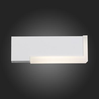 Светильник St Luce SL096.501.02Настенные<br>Модели коллекции Posto создадут комфортное освещение на участке загородного дома, клуба, гостиницы или административного здания, заполнят пространство светом и уютом. Основания светильников изготовлены из металла и окрашены в чёрный цвет. Источник света LED закрыт белым матовым акрилом. Модели коллекции Posto даже осенний вечер сделают уютным и приятным.<br><br>Цветовая t, К: 4000<br>Тип лампы: LED<br>Тип цоколя: LED<br>Ширина, мм: 44<br>MAX мощность ламп, Вт: 4<br>Расстояние от стены, мм: 238<br>Высота, мм: 77<br>Цвет арматуры: белый