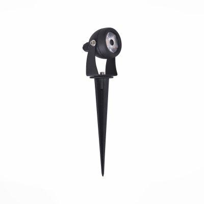 SL098.405.01 Светильник уличный наземный ST Luce Черный/Прозрачный LED 1*8WГрунтовые светильники<br>Если Вы настроены купить светильник модели SL09840501, то обратите внимание: Светильники коллекции Reggio предназначены для создания световых акцентов в ландшафтном дизайне. Корпус- регулируемый, выполнен из литого алюминия и окрашен в чёрный цвет. Рассеиватель- из прозрачного стекла. Доступен с креплением к стене или со штыком для наземного крепления.<br><br>Цветовая t, К: 4000<br>Тип лампы: LED - светодиодная<br>Тип цоколя: LED, встроенные светодиоды<br>Цвет арматуры: черный<br>Количество ламп: 1<br>Диаметр, мм мм: 50<br>Высота полная, мм: 240<br>Высота, мм: 80<br>Поверхность арматуры: матовая<br>Оттенок (цвет): черный<br>MAX мощность ламп, Вт: 8