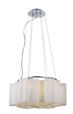 Светильник подвесной St luce SL116.503.06Подвесные<br>Касаемо коллекции модели St luce SL116.503.06 хотелось бы отметить основные моменты: Оригинальные дизайнерские плафоны волнообразной формы в серии Onde никого не оставят равнодушными. Они будут изящно смотреться как в интерьере модерн, так и в стиле хай-тек. Плафоны предлагаются в двух вариантах: белое матовое стекло и белое глянцевое стекло с изящными полосками в структуре стекла. Каждый плафон изготавливается вручную, поэтому форма каждого плафона является уникальной и неповторимой. Эта коллекция приходится по вкусу многим дизайнерам и покупателям из-за компактности, пропорций, практичности и стильных форм.<br><br>Установка на натяжной потолок: Да<br>S освещ. до, м2: 24<br>Крепление: Планка<br>Тип лампы: накаливания / энергосбережения / LED-светодиодная<br>Тип цоколя: E27<br>Количество ламп: 6<br>Ширина, мм: 520<br>MAX мощность ламп, Вт: 60<br>Диаметр, мм мм: 520<br>Длина, мм: 520<br>Высота, мм: 220<br>Поверхность арматуры: матовая<br>Оттенок (цвет): серебристный<br>Цвет арматуры: серебристый
