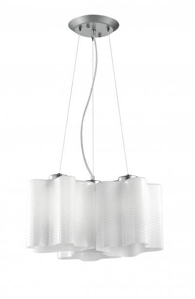 Светильник подвесной St luce SL117.503.03Подвесные<br>Касаемо коллекции модели St luce SL117.503.03 хотелось бы отметить основные моменты: Оригинальные дизайнерские плафоны волнообразной формы в серии Onde никого не оставят равнодушными. Они будут изящно смотреться как в интерьере модерн, так и в стиле хай-тек. Плафоны предлагаются в двух вариантах: белое матовое стекло и белое глянцевое стекло с изящными полосками в структуре стекла. Каждый плафон изготавливается вручную, поэтому форма каждого плафона является уникальной и неповторимой. Эта коллекция приходится по вкусу многим дизайнерам и покупателям из-за компактности, пропорций, практичности и стильных форм.<br><br>Установка на натяжной потолок: Да<br>S освещ. до, м2: 9<br>Крепление: планка<br>Тип лампы: накаливания / энергосбережения / LED-светодиодная<br>Тип цоколя: E27<br>Количество ламп: 3<br>Ширина, мм: 460<br>MAX мощность ламп, Вт: 60<br>Диаметр, мм мм: 460<br>Длина, мм: 460<br>Высота, мм: 220<br>Поверхность арматуры: матовая<br>Оттенок (цвет): белый<br>Цвет арматуры: белый