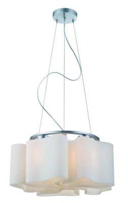 Светильник подвесной St luce SL118.503.05Подвесные<br>Касаемо коллекции модели St luce SL118.503.05 хотелось бы отметить основные моменты: Дизайнерские плафоны люстр коллекции Onde 2 выглядят изящно и эксклюзивно. Эти светильники будут отлично смотреться и в интерьере модерн, и в стиле хай-тек. Основание светильников изготовлено из белого матового стекла вручную. Трехлопастная форма каждого из них оригинальна и неповторима.<br><br>Установка на натяжной потолок: Да<br>S освещ. до, м2: 20<br>Крепление: Планка<br>Тип лампы: накаливания / энергосбережения / LED-светодиодная<br>Тип цоколя: E27<br>Количество ламп: 5<br>Ширина, мм: 520<br>MAX мощность ламп, Вт: 60<br>Диаметр, мм мм: 520<br>Длина, мм: 520<br>Высота, мм: 220<br>Поверхность арматуры: матовая<br>Оттенок (цвет): серебристный<br>Цвет арматуры: серебристый