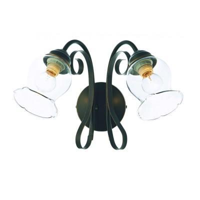 Светильник бра St luce SL145.301.02Кованые<br>Касаемо коллекции модели St luce SL145.301.02 хотелось бы отметить основные моменты: Люстры коллекции Stelia могут украсить как классический интерьер гостиной, так и интерьеры в стиле модерн или гранж. Светильники представлены в двух цветах арматуры, выполненной из металла, с имитацией ковки под старину. Металлические детали декорированы золотой фольгой. Люстры серии Stelia снабжены керамическими патронами, которые в совокупности с дутым прозрачным стеклом, помимо декоративной функции обеспечивают надежность и гарантируют долгий срок службы.<br><br>S освещ. до, м2: 8<br>Крепление: планка<br>Тип товара: Светильник настенный бра<br>Скидка, %: 26<br>Тип лампы: накаливания / энергосбережения / LED-светодиодная<br>Тип цоколя: E14<br>Количество ламп: 2<br>Ширина, мм: 370<br>MAX мощность ламп, Вт: 60<br>Длина, мм: 270<br>Расстояние от стены, мм: 270<br>Высота, мм: 240<br>Поверхность арматуры: матовая<br>Цвет арматуры: коричневый