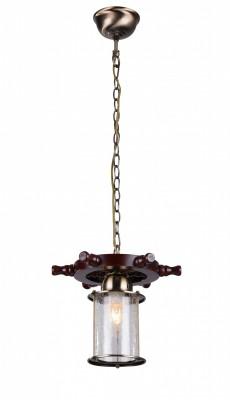 Светильник St luce SL150.303.01Одиночные<br>Касаемо коллекции модели St luce SL150.303.01 хотелось бы отметить основные моменты: Коллекция светильников Volantino создана для современных интерьеров, сочетающих оригинальный дизайн и стремление к натуральности материалов. Люстры Volantino изготовлены из натурального дерева и металла. Плафон выполнен из кракелированного стекла, которое имитирует тончайшую сеть трещинок, создавая интересную игру света, проникающего сквозь него. Эти светильники подойдут для освещения загородных домов, квартир, оформленных в классическом стиле или стиле кантри, поддержат морскую тематику в оформлении интерьера.<br><br>Крепление: на крюк<br>Тип лампы: накаливания / энергосбережения / LED-светодиодная<br>Тип цоколя: E27<br>Количество ламп: 1<br>MAX мощность ламп, Вт: 40<br>Диаметр, мм мм: 150<br>Высота, мм: 270<br>Поверхность арматуры: матовая<br>Цвет арматуры: бронзовый, коричневый