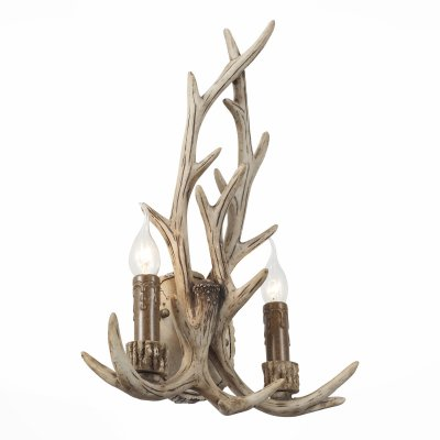 Светильник St Luce SL153.701.02бра рустика<br>Если Вы настроены купить светильник модели SL15370102, то обратите внимание: Светильники коллекции Renna – это традиционное решение освещения в средневековой Европе.Основание светильника выполнено в виде оленьих рогов из дерева и смеси смол, удерживающие элементы- из металла и окрашены светло коричневой краской. Аутентичный природный дизайн основания гармонично дополняют лампы, имитирующие свечи. Модели коллекции Renna привнесут в интерьер зала, кабинета, просторного холла ощущение тепла и уюта , создадут атмосферу торжественности .<br><br>Тип лампы: Накаливания / энергосбережения / светодиодная<br>Тип цоколя: E14<br>Количество ламп: 2<br>Ширина, мм: 340<br>Высота, мм: 500<br>MAX мощность ламп, Вт: 40