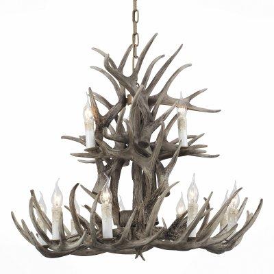 Светильник St Luce SL154.703.12Подвесные<br>Если Вы настроены купить светильник модели SL15470312, то обратите внимание: Светильники коллекции Corna – традиционное решение средневековой Европы. В основании такого светильника - оленьи рога. Каркас выполнен из дерева, удерживающие элементы - металлические. Аутентичный природный дизайн дополнен светодиодными лампами, имитирующими свечи. При том, что плафоны небольшие и изящные, светового потока хватает, чтобы осветить существенные площади. Такие светильники наполнят помещение домашним теплом и уютом, добавят шика и стиля интерьеру, и при этом создадут атмосферу торжественности и праздничности.<br><br>Установка на натяжной потолок: Да<br>S освещ. до, м2: 24<br>Тип лампы: Накаливания / энергосбережения / светодиодная<br>Тип цоколя: E14<br>Количество ламп: 12<br>MAX мощность ламп, Вт: 40<br>Диаметр, мм мм: 830<br>Высота, мм: 750 - 1610