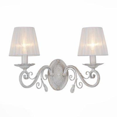Светильник St Luce SL157.501.02Классика<br><br><br>Тип товара: Светильник настенный бра<br>Тип лампы: Накаливания / энергосбережения / светодиодная<br>Тип цоколя: E14<br>Количество ламп: 2<br>Ширина, мм: 430<br>MAX мощность ламп, Вт: 40<br>Высота, мм: 330
