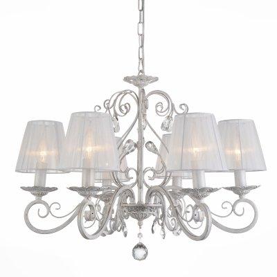 Люстра St Luce SL157.503.06Подвесные<br>Если Вы настроены купить светильник модели SL15750306, то обратите внимание: Сочетая великолепный декор, выдержанный стиль, мягкую цветовую гамму, светильники коллекции Sonata станут лучшим украшением просторной гостиной, спальни, кабинета, элитного гостиничного номера, оформленного в легком классическом стиле.Изящная форма металлического основания, окрашенного в античный белый цвет ,прекрасно сочетается с нежными тканевыми плафонами белого цвета. Элегантность и романтичность образа моделей Sonata привнесут в интерьер гармонию и уют, роскошь и, одновременно, легкость.<br><br>Установка на натяжной потолок: Да<br>S освещ. до, м2: 12<br>Тип лампы: Накаливания / энергосбережения / светодиодная<br>Тип цоколя: E14<br>Количество ламп: 6<br>MAX мощность ламп, Вт: 40<br>Диаметр, мм мм: 660<br>Высота, мм: 490 - 1000