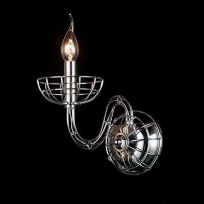 Светильник St Luce SL165.101.01современные бра модерн<br>Если Вы настроены купить светильник модели SL16510101, то обратите внимание: Необычная дизайнерская задумка выражена в хитросплетении металлической конструкции люстр коллекции Manic. Напоминающий собой сложное плетение тонкой металлической паутины, светильник идеально впишется в современный интерьер, где акцент делается на нестандартных, ярких деталях.<br><br>Рекомендуемые колбы ламп: Свеча на ветру<br>Крепление: Планка<br>Тип лампы: Накаливания / энергосбережения / светодиодная<br>Тип цоколя: E14<br>Цвет арматуры: серебристый<br>Количество ламп: 1<br>Ширина, мм: 130<br>Расстояние от стены, мм: 260<br>Высота, мм: 220<br>Поверхность арматуры: глянцевая<br>Оттенок (цвет): серебристый<br>MAX мощность ламп, Вт: 40